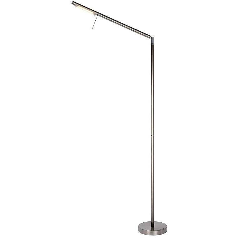 Nowoczesna Lampa podłogowa regulowana Bergamo Led Chrom Lucide do salonu, sypialni i poczekalni.