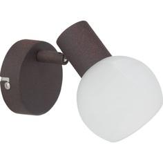 Szklany kinkiet ścienny Gabon brązowy/biały alabastrowy Brilliant