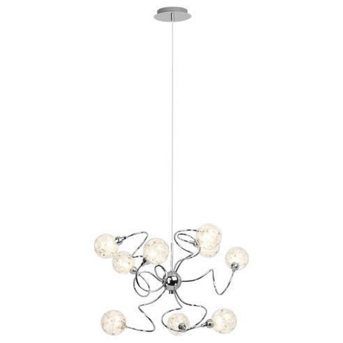 Glamour Lampa wisząca nowoczesna Joya 70 Chrom Brilliant do salonu, kuchni, hotelu i restauracji.