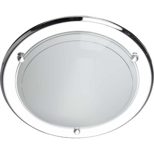 Stylowy Plafon szklany okrągły Miramar 31 Chrom Brilliant do kuchni, salonu i sypialni.