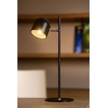 Stylowa Lampa biurkowa skandynawska Skanska Led Czarna Lucide na biurko do gabinetu.