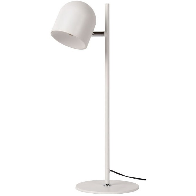 Stylowa Lampa biurkowa skandynawska Skanska Led Biała Lucide na biurko do gabinetu.
