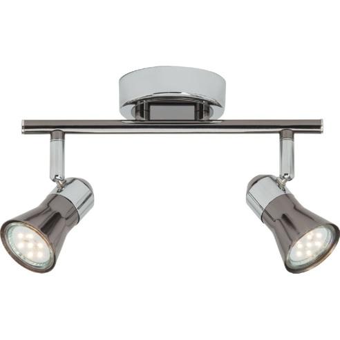 Reflektor sufitowy nowoczesny Jupp II Led Chrom/Czarny Brilliant do kuchni, przedpokoju i sypialni.