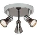 Reflektor sufitowy nowoczesny Jupp III Led Chrom/Czarny Brilliant do kuchni, przedpokoju i sypialni.