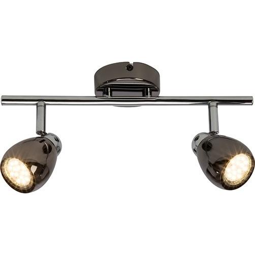 Kierunkowy Plafon nowoczesny podwójny Milano II Led Chrom/Czarny Perłowy Brilliant do kuchni, sypialni i przedpokoju.
