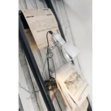 Lampka Klips Photo Clamp Aluminium Nordlux do czytania i na biurko.
