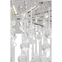 Stylizowany Plafon glamour z kryształkami Svea 33 Led Chrom/Przezroczysty Brilliant do sypialni, salonu i przedpokoju.