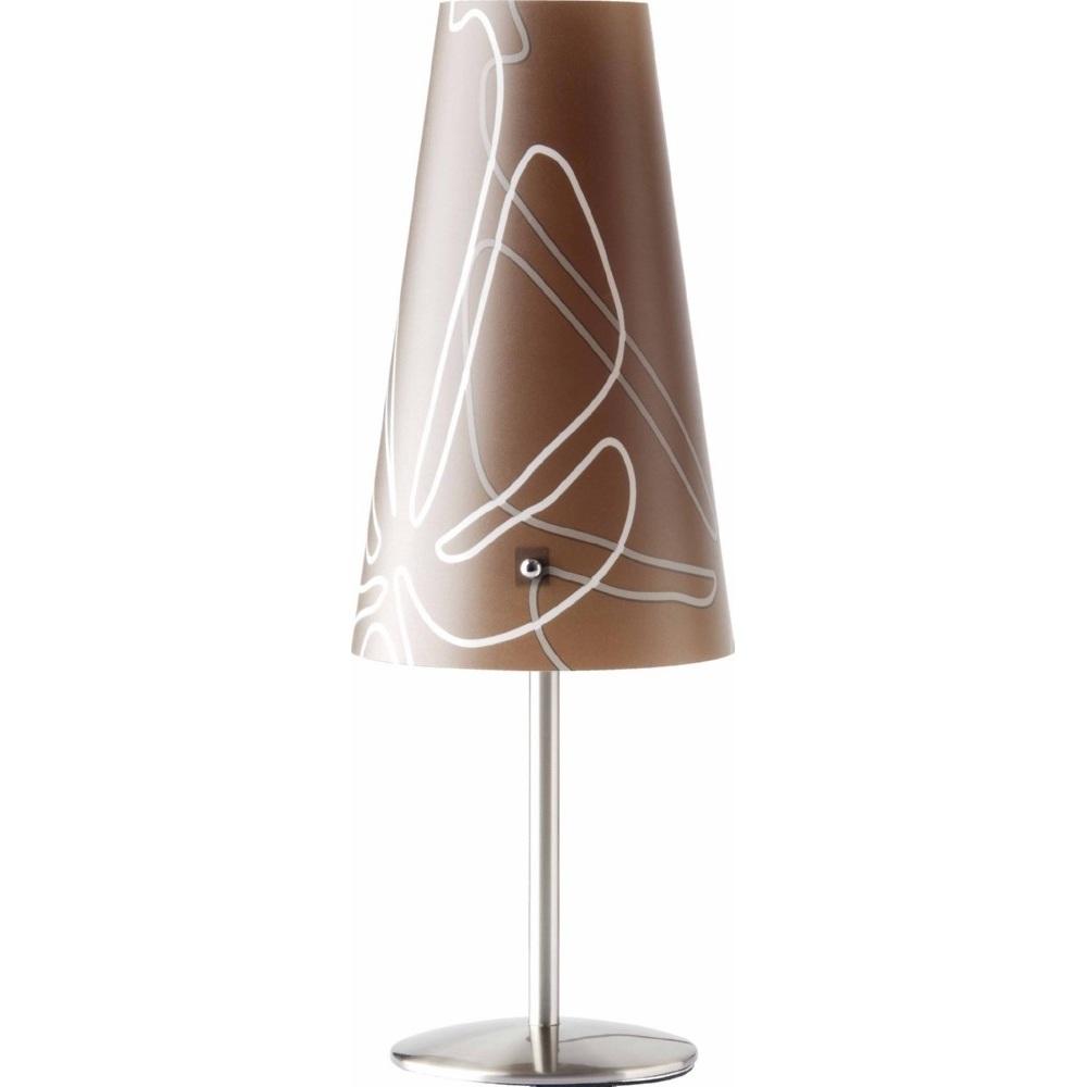 Lampa stołowa klasyczna Isi Ciemna Brązowa Brilliant do salonu i sypialni.