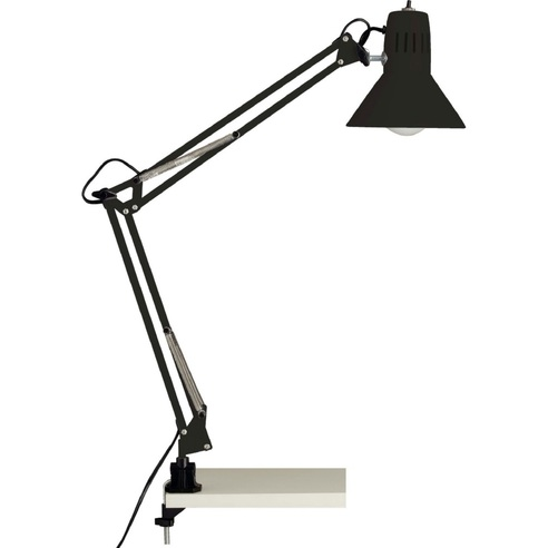 Lampa biurkowa z uchwytem Hobby Czarna Brilliant do czytania i na biurko.