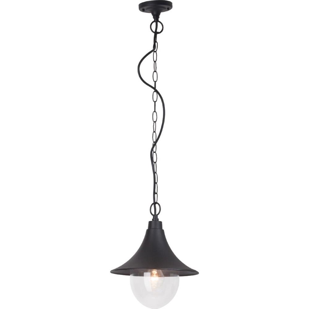 Lampa zewnętrzna wisząca Berna 26 Czarna Brilliant na taras i do ogrodu.