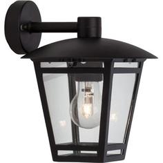 Kinkiet zewnętrzny latarnia Riley Czarny Brilliant na taras, elewacje i nad drzwi.