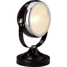 Szklana lampa stołowa Rider czarna błyszczący/chrom Brilliant