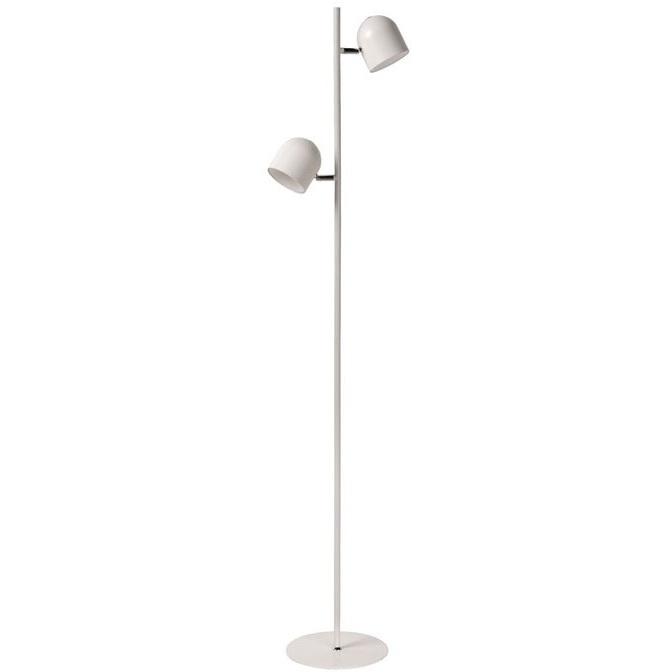 Skandynawska Lampa podłogowa podwójna Skanska Led Biała Lucide do salonu i sypialni.