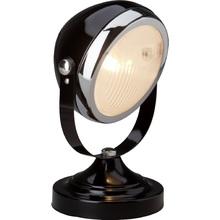 Lampa stołowa industrialna Rider Czarna Błyszczący/Chrom Brilliant do sypialni i salonu.