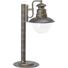 Lampa zewnętrzna stojąca retro Artu Czarna/Złota Brilliant przed dom i podjazd.