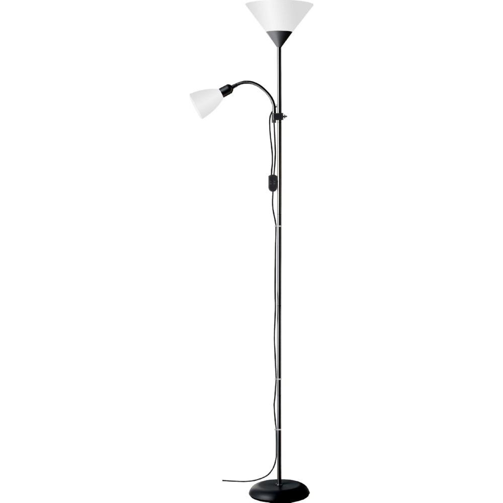 Stylizowana Lampa podłogowa antyczna Spari Czarna/Biała Brilliant do hotelu i restauracji.