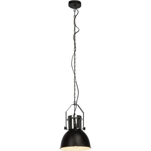 Lampa wisząca industrialna Salford 23 Czarna/Chrom Brilliant do sypialni, salonu i kuchni.