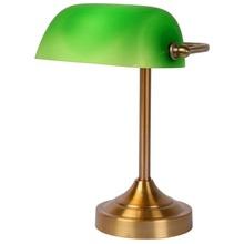 Stylizowana Lampa biurkowa bankierska Banker Zielona Lucide do hotelu i restauracji.