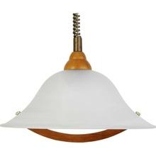 Lampa wisząca Torbole drewniana/mosiądz/alabastrowa