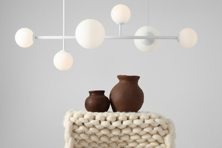 Biała lampa wisząca szklane kule Balia Aldex