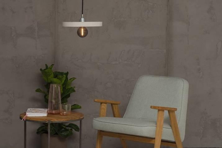 Szara lampa betonowa Primitivo w stylu industrialnym