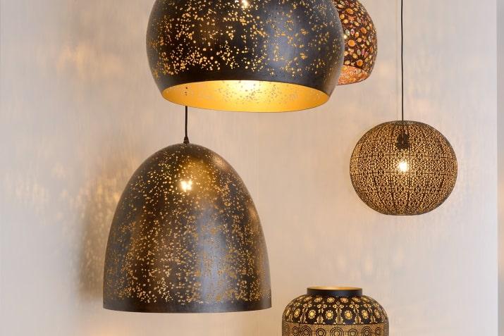 Lampy orientalne wiszące i stołowe Tahar Lucide