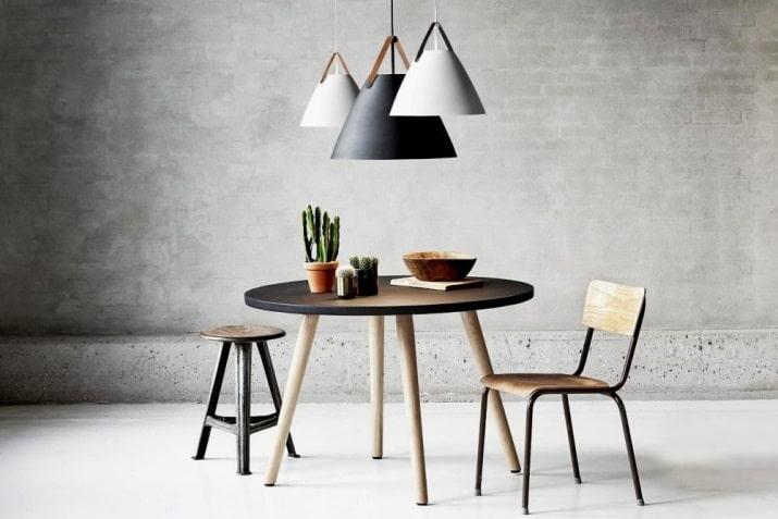Lampy wiszące skandynawskie Strap do salonu i nad stół